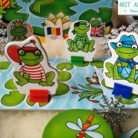 Frog party. Invata operatii matematice intr-un mod distractiv