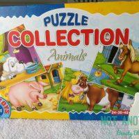 Colectie de 4 puzzle-uri cu animale de la D-Toys