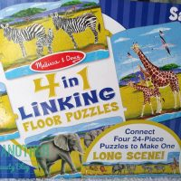 Set 4 puzzle de podea conectabile, Safari, de la Melissa and Doug